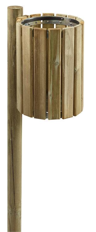 Installation poubelle extérieure bois Rossignol à Lyon et en Auvergne-Rhône-Alpes