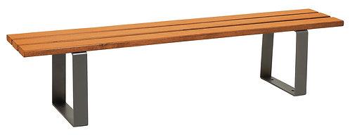 Installation banquette extérieure bois acier Riga ProCity à Lyon et en Auvergne-Rhône-Alpes
