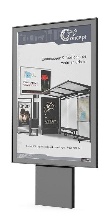 Installation panneau d'affichage Cité Concept à Lyon et en Auvergne-Rhône-Alpes