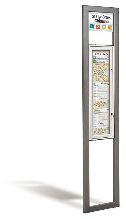Installation poteaux d'arrêts à Lyon et en Auvergne-Rhône-Alpes
