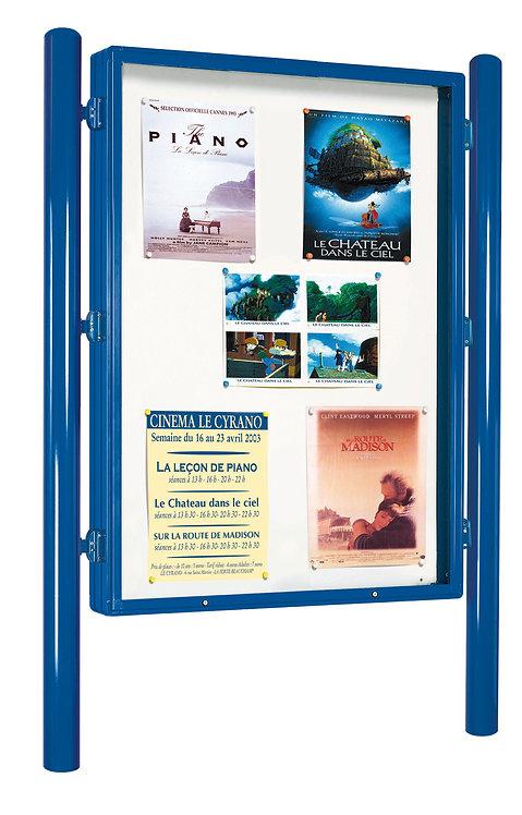 Installation vitrine d'affichage commune à Lyon et en Auvergne-Rhône-Alpes