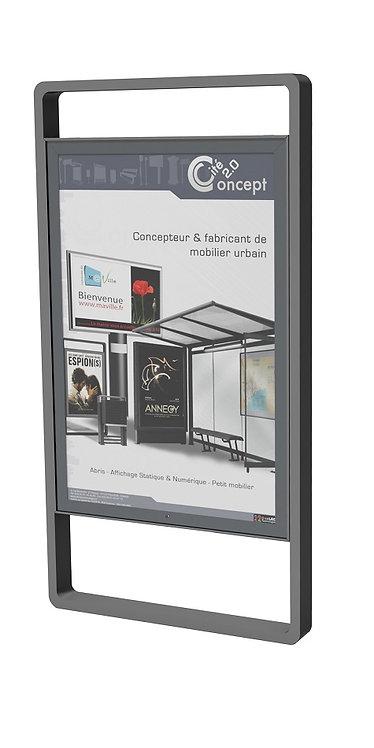 Installation panneau d'affichage Galvasteel à Lyon et en Auvergne-Rhône-Alpes
