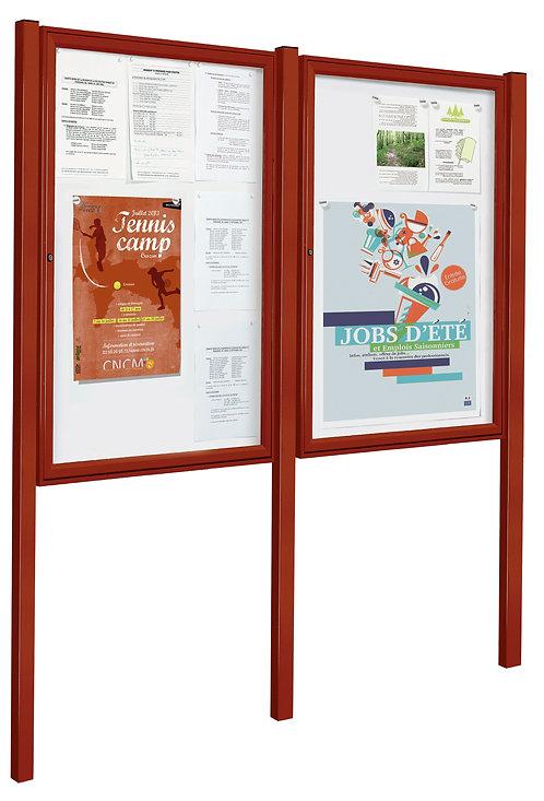 Installation vitrine d'affichage institutionnel à Lyon et en Auvergne-Rhône-Alpes