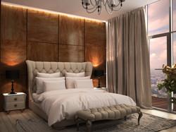 Спальня. Дизайн интерьера современный стиль .jpg