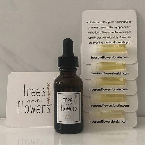 "Calming Oil For Skin "" bundle of five"""