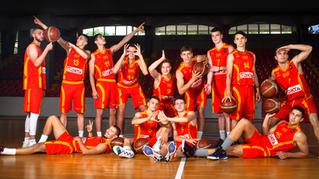 Not a standard basketball team photoshoot!