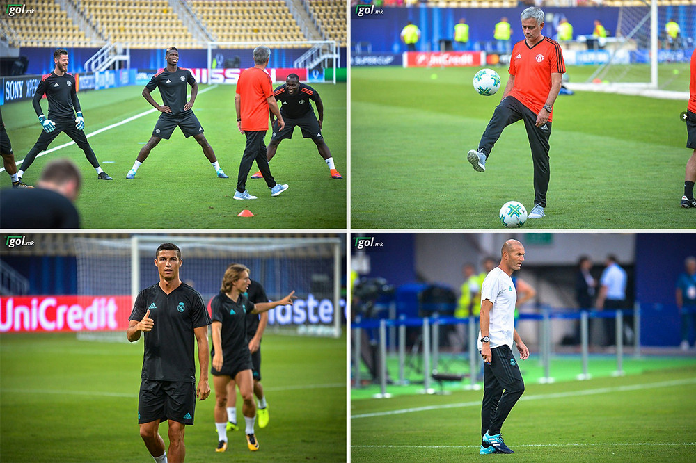 Training sessions of Manchester United and Real Madrid (Phillip II Stadium, Skopje - Macedonia)