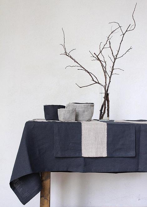 Collezione DOPPIA RETE - Tessile tavola in puro lino