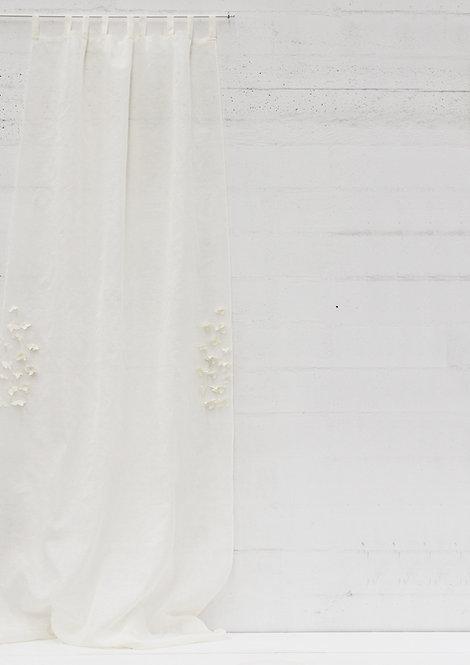 Tenda collezione GELSOMINO garza di lino crema