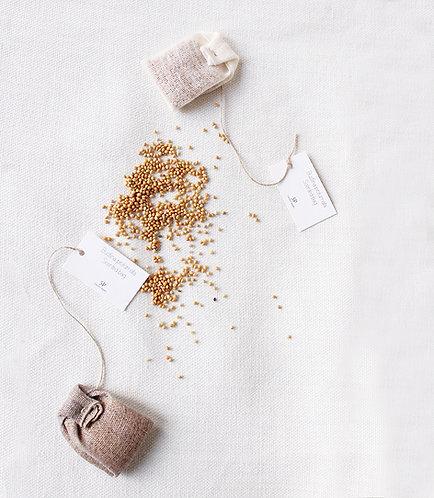 Bustine del the profumate in garza di lino
