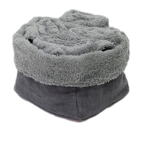 Set di Lavette da bagno | Spugna grigio Cenere