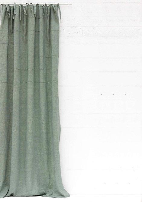Tenda collezione QUADRI piuma di lino salvia