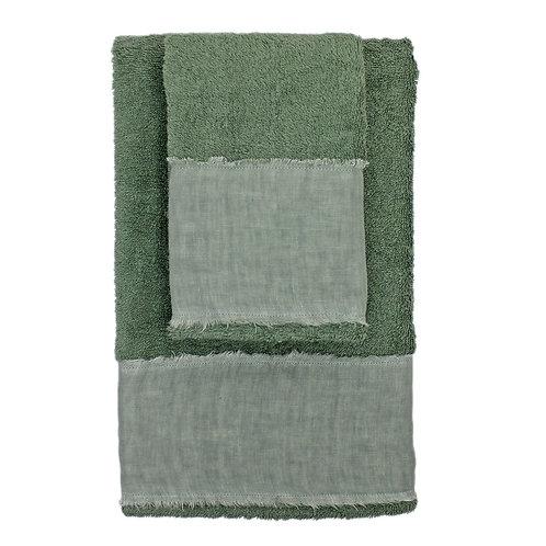 | Asciugamani STRAPPATO | Spugna Verde bosco