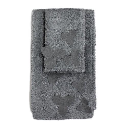 | Asciugamani ORTENSIA | Spugna Grigio cenere