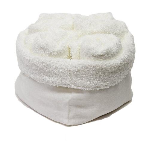 Set di Lavette da bagno   Spugna bianco