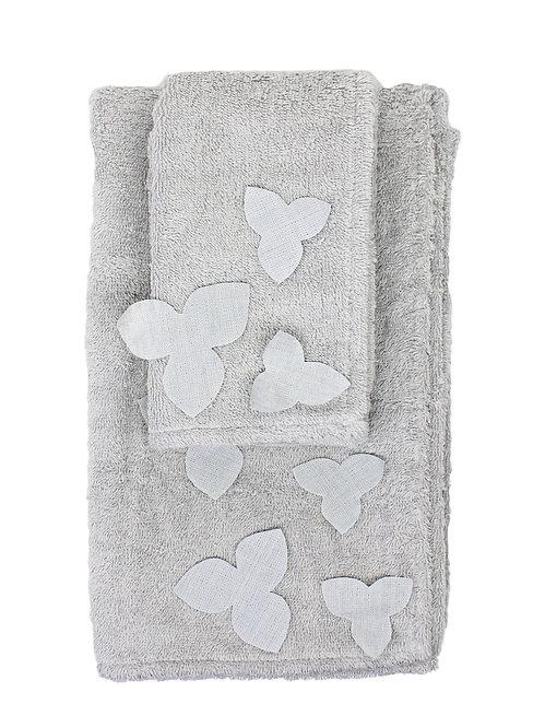 | Asciugamani ORTENSIA | Spugna Grigio polvere