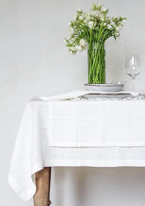 Collezione QUADRI - Tessile tavola in puro lino