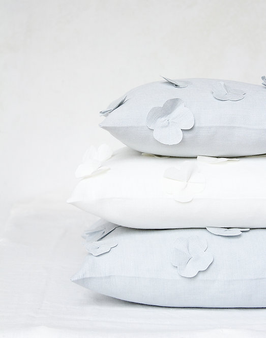 Collezione FIORI DI LINO - Cuscini in puro lino