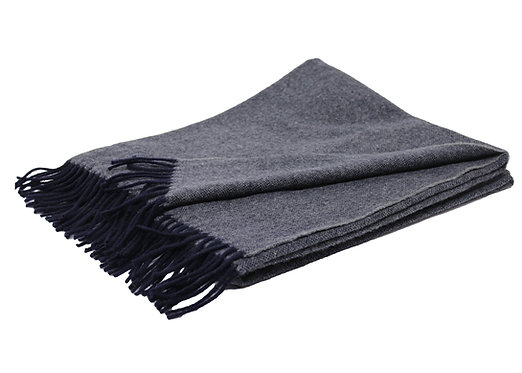 | Plaid in misto cashmere BLACK | Grigio antracite