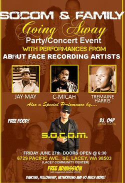 S.O.C.O.M. concert flyer