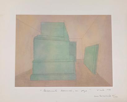Basamento desarmado, en pieza, 1971