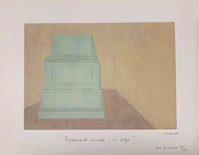 Basamento armado, en pieza, 1970