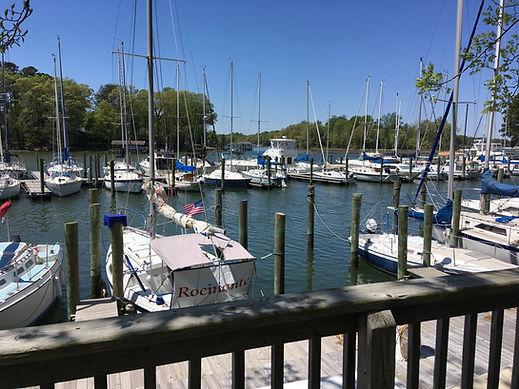 marina, floating dock, boat slip, sailboats, power boat
