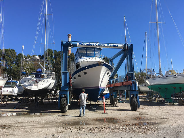 trawler, launch, defever, bottom paint, cutlass bearings, running gear, york river, lower chesapeake bay