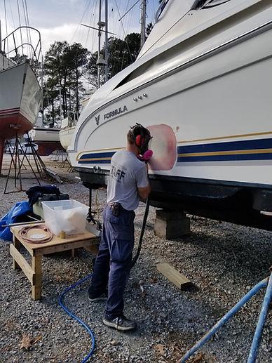 marina, formula, collision damage, gel coat, repair
