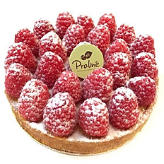 Passion fruit/ Raspberries tart