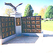 The three winged Memorial Plaqu mounting walls