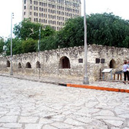 Part of the Alamo where most of the defenders were during the battle
