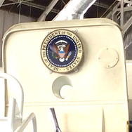 The Presidential Seal on the door