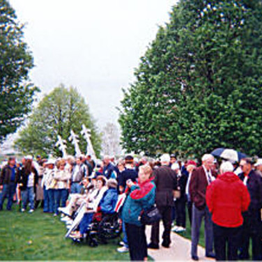 The Memorial Garden was where the Plaque is mounted