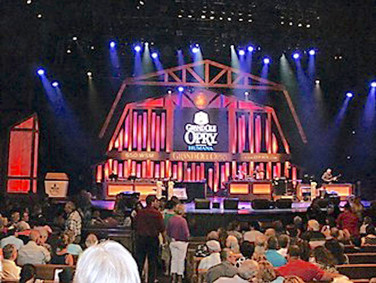 The Opry has a huge stage