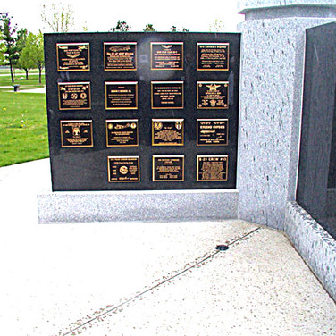The wall full of Memorial Plaques