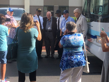 We meet the drivers for our many bus trips