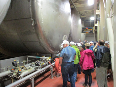 Each of these rolling tanks for ageing holds a lot of beer, about 3600 barrels