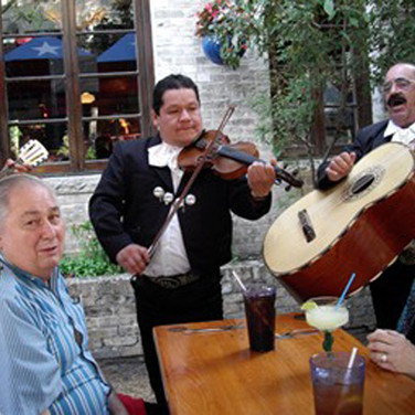 The entertainment was nostalgic Spanish style music