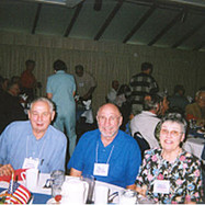 Dave Alcorn, Orvin Bergman and Carol Bergman smiled for the camera