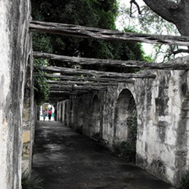 A passageway at the Alamo