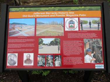The fine print gives a detailed history of this area atracttion