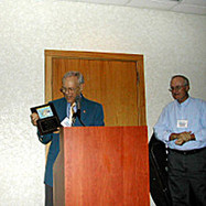 Jerry showing everyoine his Plaque