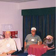 Don J. Schurtz, Roger Nasvs & Cameron Davis met in the Hospitality Suite