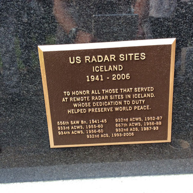 A close up of the Plaque