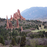 The fantastic rock formations of the Garden of the Gods