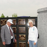 Reed and Sally Thomas appreciating our Plaque