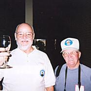 Ed Morris & Roger Naeve enjoy some refreshemnts