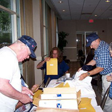 Packets of information were provided to all reunion members