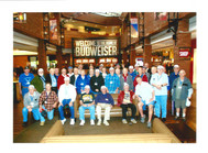 Time for a group picture at the Home of Budweiser